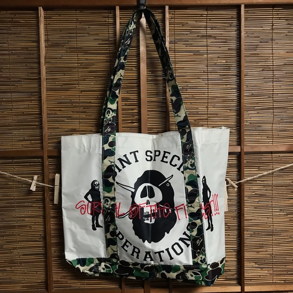 Stussy Handbags - Rare Stussy BAPE Japan only tote bag camo